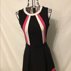 Calvin Klein pleated cocktail dress. 0P